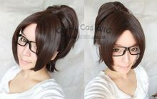 mac makeup cosplay wig ll! Attack on Titan/Hanji Zoe Dark Tea Brown Cosplay Wig With Clip On Ponytail