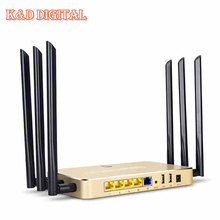 Enterprise 1200Mbps 802 11AC Dual Band 2 4G 5G Gigabit Port High Power WiFi Router Support
