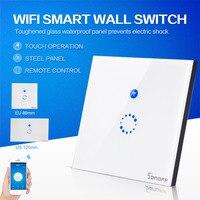 Sonoff Dotykowy Ścienny Wifi Światła Przełącznik USA/UE Inteligentne Szkło Panel AC90-250V Inteligentnego Domu Bezprzewodowy Pilot Zdalnego Sterowania Przez Telefon