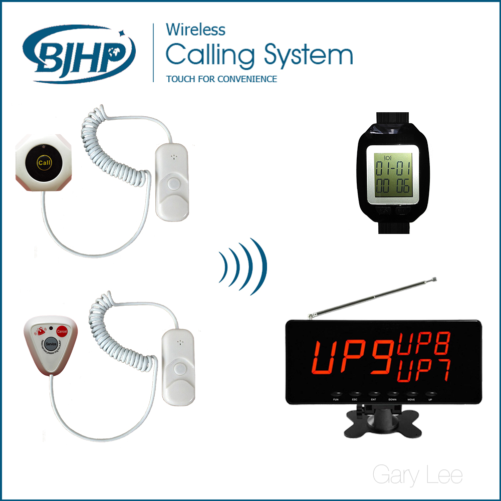 Hospital Patient Call Button Emergency Nurse Call Bell Nurse Call System wireless service call bell system popular in restaurant ce passed 433 92mhz full equipment watch pager 1 watch 7 call button