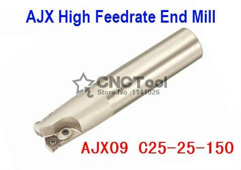 AJX09 C25-25-150 Торцевая мельница ing Cutter AJX Высокая скорость подачи Концевая мельница, высокоскоростной фрезерный индексируемое Фрезерование рез...,