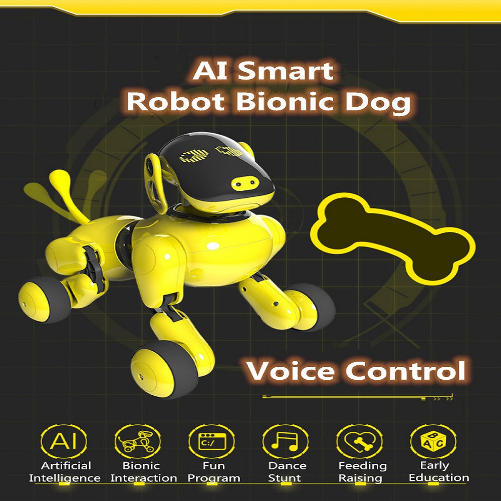 Animal de compagnie électronique drôle interactif sans fil télécommande chiot intelligent RC Robot chien commandes vocales APP contrôle Robot chien jouet