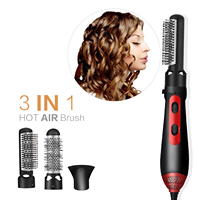 3 IN 1 Hot Air Brush & Hair Dryer Hair Straightener Curler Comb Fit For Drying Straightening Curling Various Kinds Hairs Style
