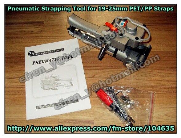 Frete grátis Pneumática Ferramentas De Cintas De Plástico, PET/PP Tensor E Sealer, Ferramentas Manuais, Ferramentas Sealless Combinação AQD-25