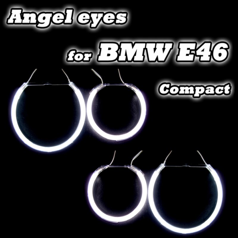 Carbar 4PCS/set Auto DRL kits With Halo Rings For BMW E46 Compact/E83/X3 Angel Eyes Headlight Lens Good Quality One