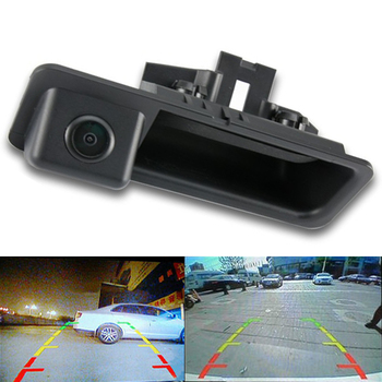 Msanzeo Rear View Camera Car Reverse for BMW E88 E84 E90 E91 E92 E93 E60 E61 3/5 Series 118i 316i 318i 320i 325i 328Li 120i image