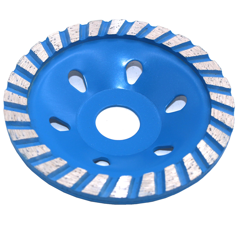 100 mm Rueda de molienda de copa turbo segmentada Forma de tazón de disco Taza de molienda Hormigón Granito Piedra Cerámica Herramientas
