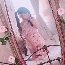 Милый костюм принцессы в стиле Лолиты; Летняя мода; милая мягкая блузка с крестиками и красными губами; Пузырьковые шорты; женский костюм; TB1638