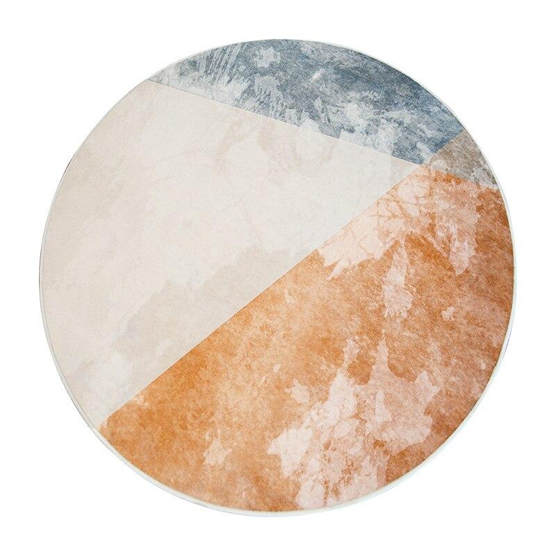 Tapis rond Style minimaliste nordique Loartee chambre salon cuisine salle d'étude décoration de la maison tapis tapis de chambre d'enfants Tapetes