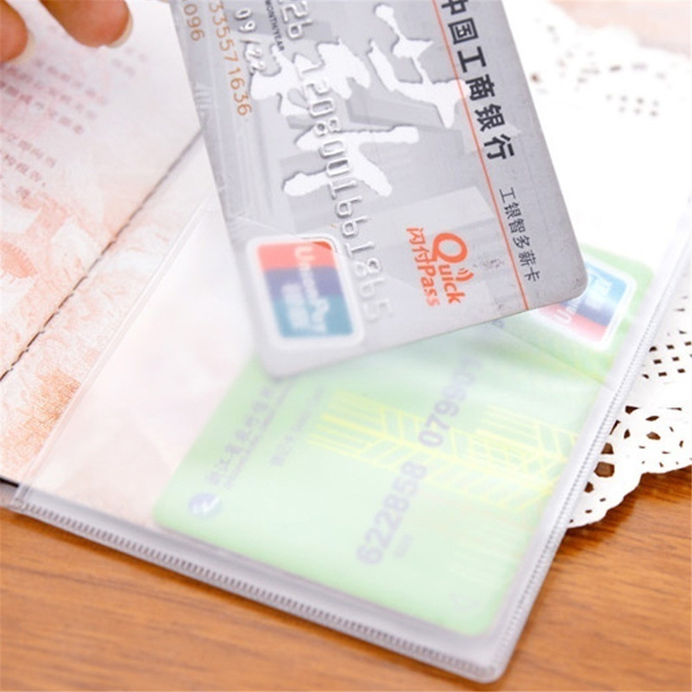 Купить с кэшбэком Unisex Business Transparent Matte Passport Cridit Card Waterproof Dirt ID Card Holder Travel Protector Cover Case