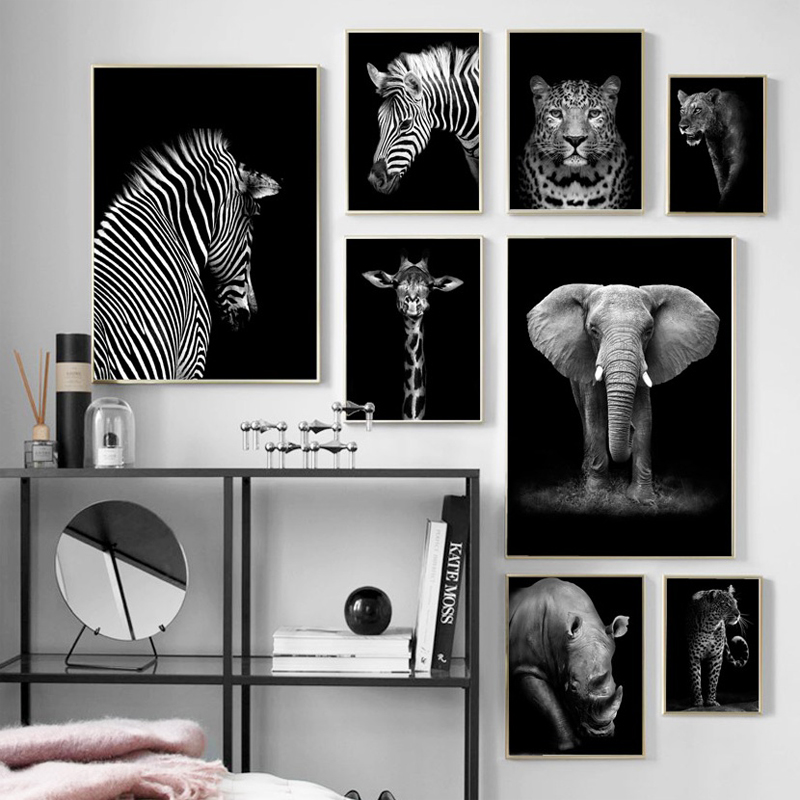 Black White Elephant Giraffe Zebra leopard 5D animal Diamond Embroidery full square/round drill diy diamond painting home decor