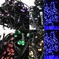 2017 200 LED Solares Luces de Hadas de Navidad Luces de Cadena 22 M Impermeable Al Aire Libre Del Jardín de Navidad/de La Boda/Fiesta decoración