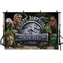 MEHOFOTO Custom Jurassic Park World Dinosaur Birthday Photography Studio Background High Quality Computer Print Party Backdrops
