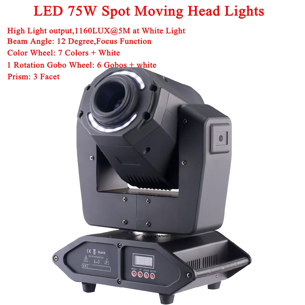 LED 75W Spot Moving Head Light Disco DJ Lamp 14X0.2W RGBW LEDs Music Party Lights Channels Professional Stage lighting Effect