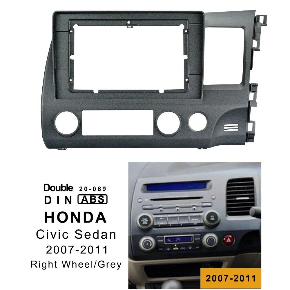 10.1 pouce 2din voiture radio Fascia pour HONDA CIV IC berline 2007-2011 stéréo Double Din cadre installer panneau tableau de bord montage Installation