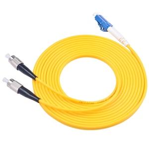 Image 5 - Cabo de ligação em ponte da fibra ótica de 10 pces lc/UPC FC/upc fibra duplex 3.0mm pvc 3 medidores cabo de remendo da fibra lc fc