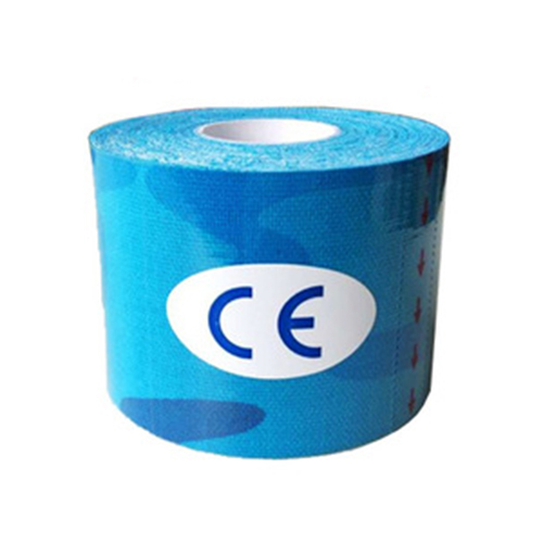Kinesiology Tape Sports Tape Cotton Elastic Adhesive Muscle Bandage Care Physio Strain Injury Support Blue camouflage