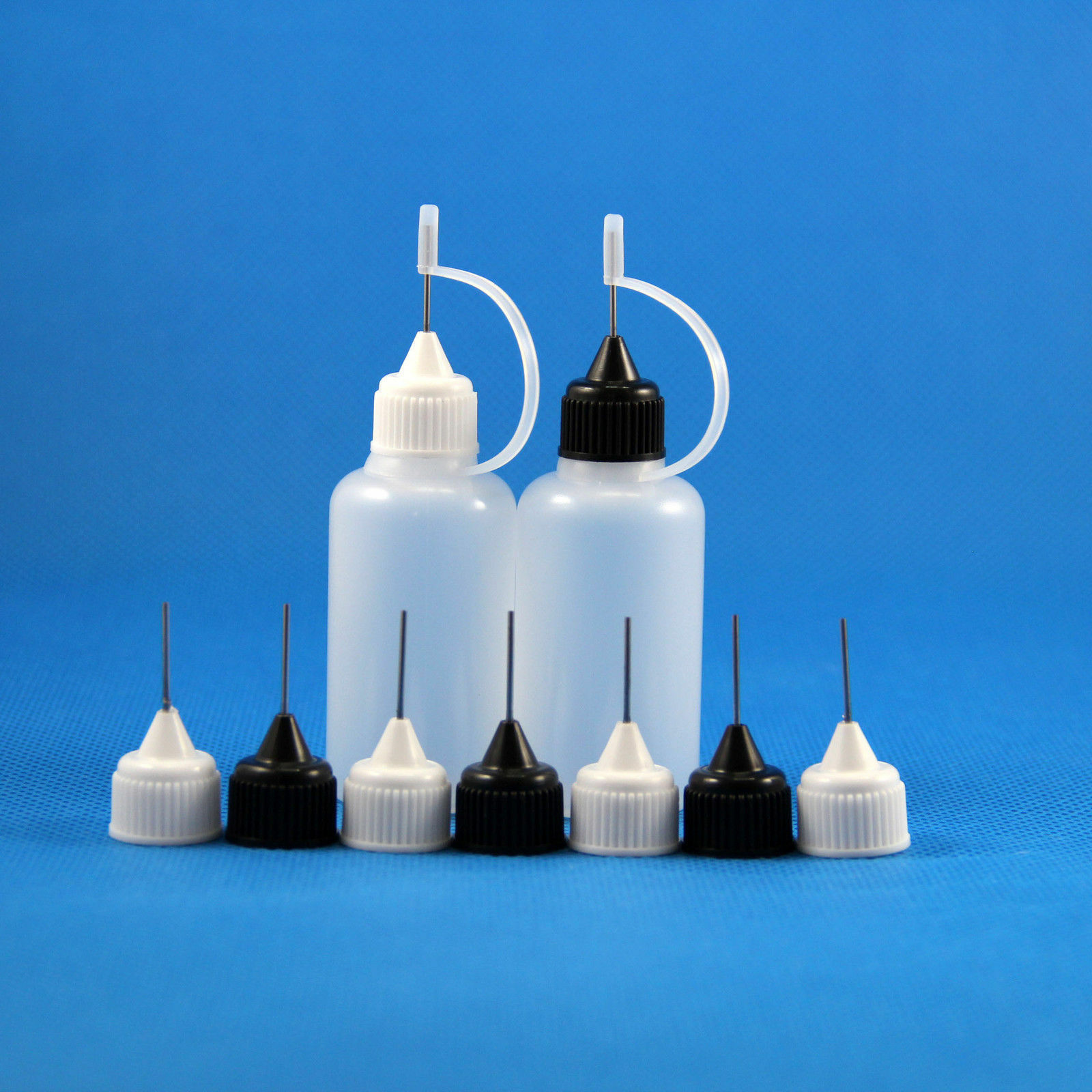 10pcs 3ml 5ml 10ml 15ml 30ml 50ml Plastic Squeezable Drop Bottle Metal Dropper Needle Tip Liquid Cig Oil E Juice Fill Container