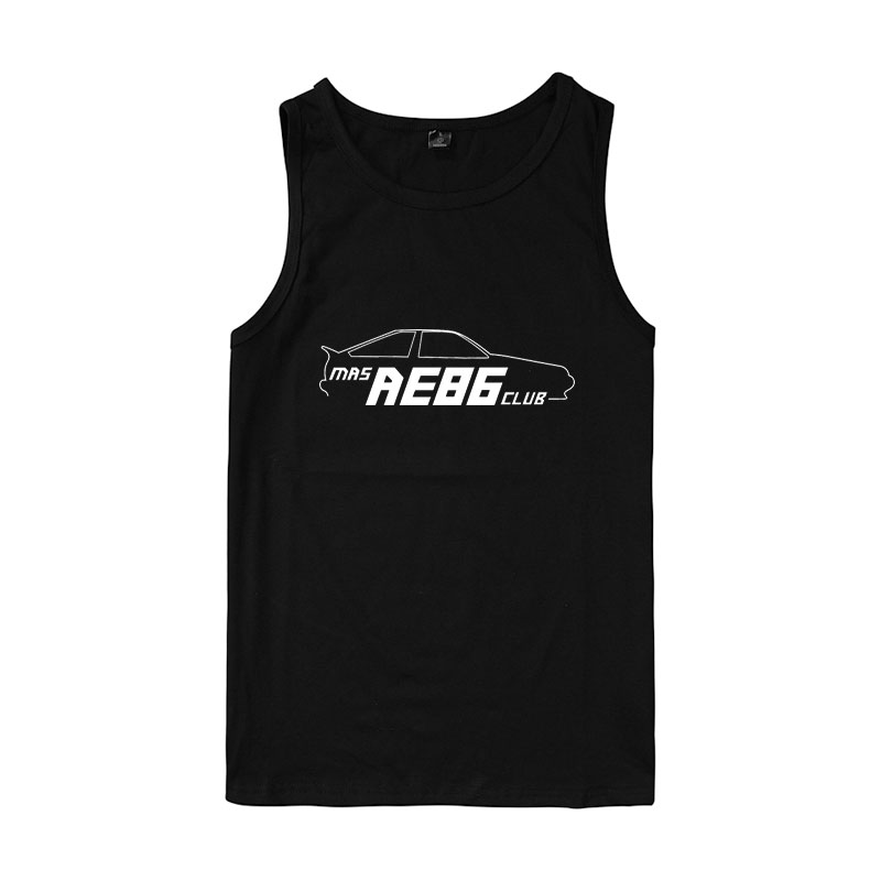INITIAL D mens clothing shirts for girls INITIAL D tank tops Unisex summer mens tank tops shirt  Suitable for summer wear