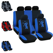 Dewtreetali Gecko Full Set Car Seat Cover Universal Car Cushions Seat Protector Decoration font b Interior