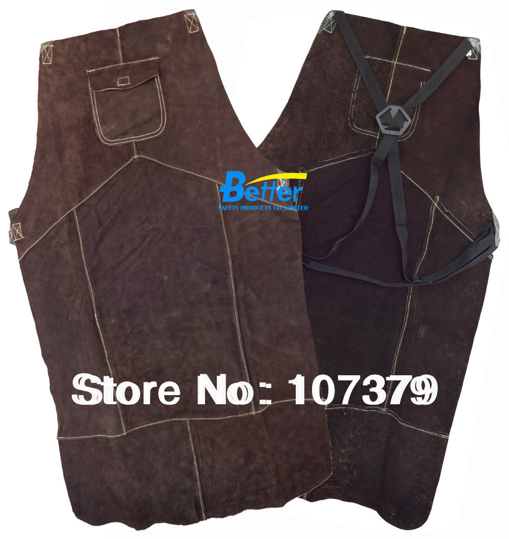 Leather Welder Jackets Split Cowhide Leather Welding Aprons Leather Aprons leather welding aprons wear insulated
