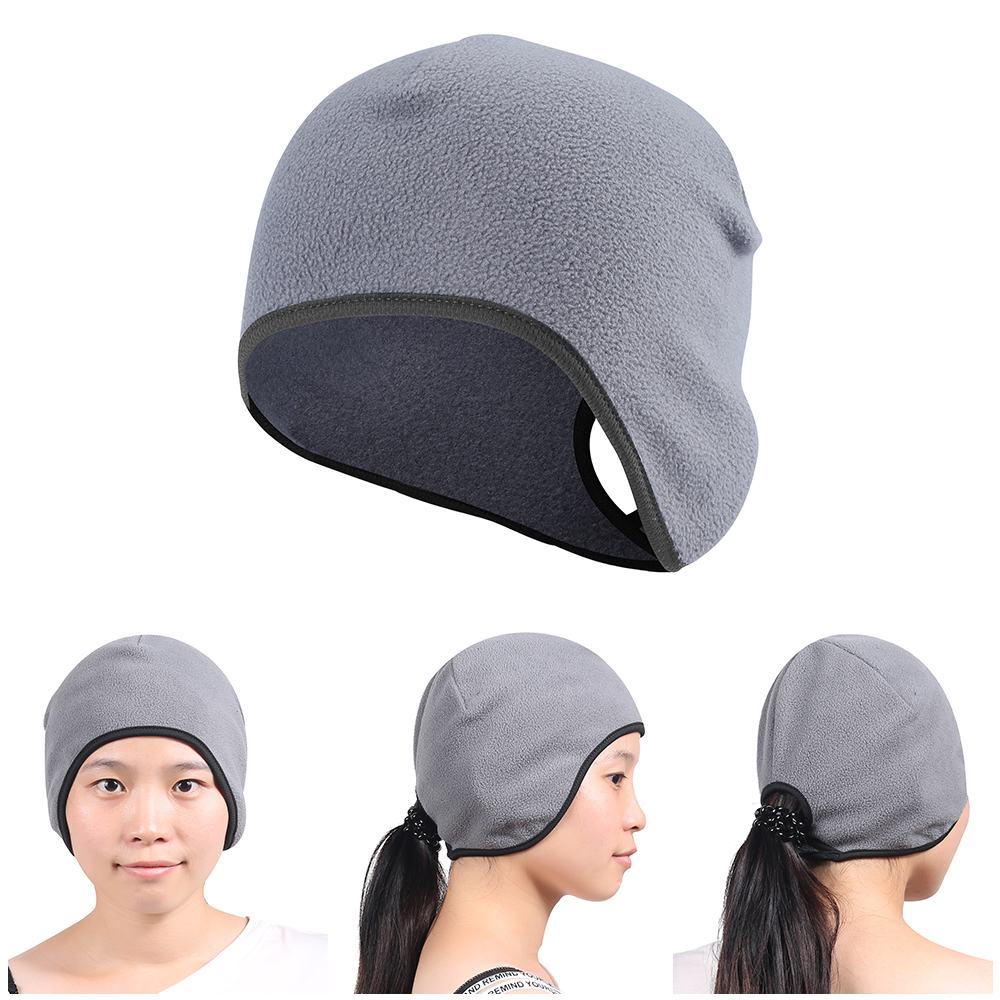 Polyester Ponytail   Beanies   Cold Weather Ear Warmer   Skullies     Beanies   Hats Windproof Hedging Cap Bonnet For Women Ladies Girls