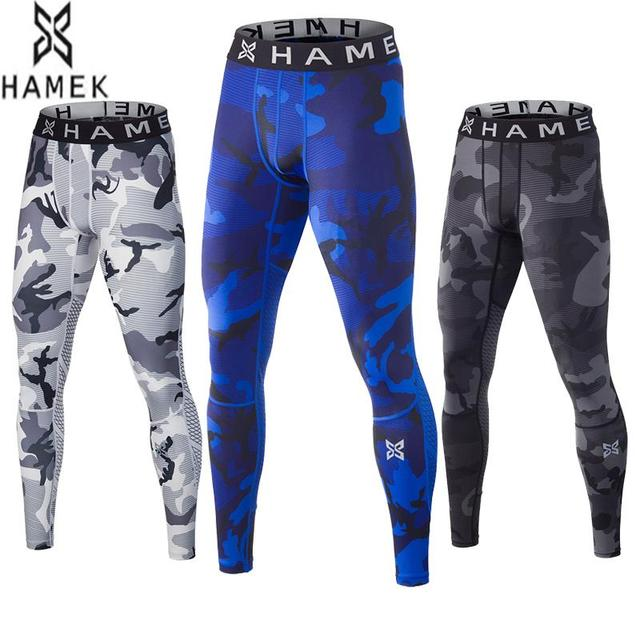 New Running Tights Men Camouflage Fitness Skins Sport Leggings Compression  Running Tights Gym Dry Collant Running Pants Trousers f8647f1201e