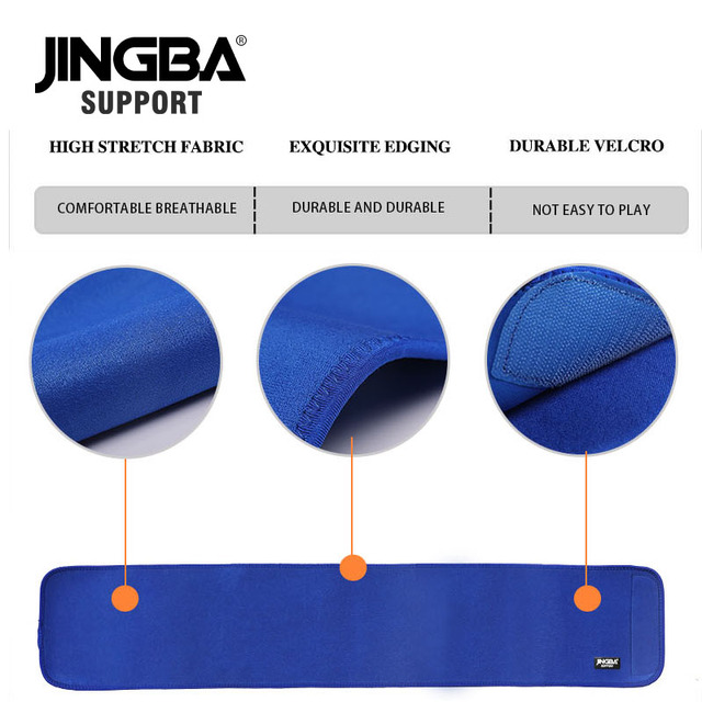 JINGBA SUPPORT Professional Adjustable Waist trimmer Slim fit Abdominal Waist sweat belt Waist back support belt Fitness 4