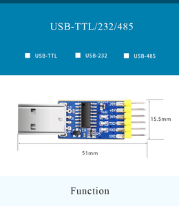 Image 5 - WitMotion USB UART 3   in   1, Multifunctional (USB TTL/RS232/RS485) 3.3 5 V Serial Adapter, CH340 ชิป Professional Design