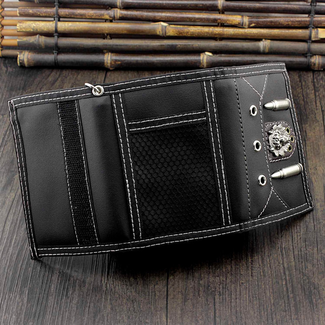 Men's Leather Wallet w/ Safe Chain 4