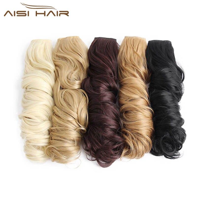 """Я в парик 24 """"16 Цвета длинные волнистые Высокая Температура Волокно химическое Зажим в синтетических выдвижениях волос для Для женщин"""
