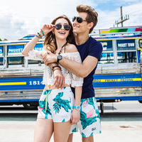 GAILANG Brand Seaside Resort Couples Beach Shorts Men Loose Casual Shorts Boxer Quick Dry Big Size