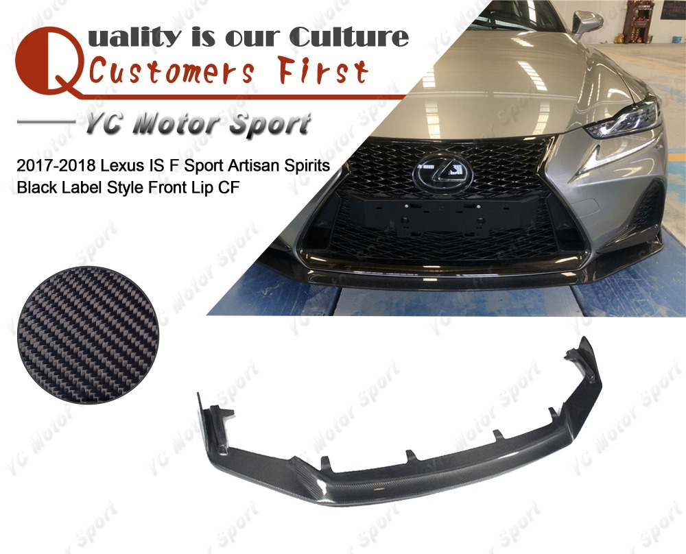 Car Accessories Carbon Fiber ASBL Style Front Lip Fit For 2017-2018 Lexus IS F Sport Front Bumper Lower Splitter Lip