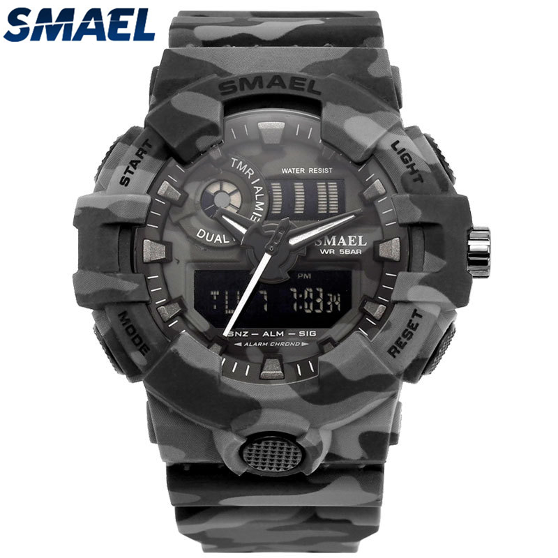 Analog Quartz Wristwatches Camouflage Military Sport Digital