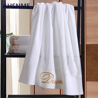 AHSNME super luxury increase white 100% cotton towel 80x160cm weight 800g embroidery can be customized LOGO pattern