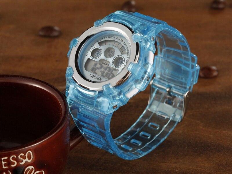 OHSEN Kids Watches Children Digital LED Fashion Sport Watch Cute Boys Girls Wrist watch Waterproof Gift Watch Alarm Kids Clock (22)