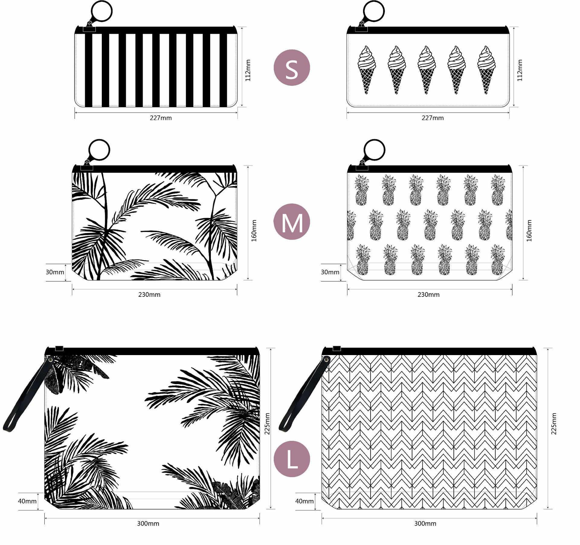 Fashion Women Transparent Cosmetic Bag Small Large Clear PVC Waterproof Makeup Bag Case Travel Bath Wash Pouch Storage Organizer