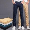 2016 Новая Мода мужчин брюки хлопок промывают случайные штаны мужчины прямые брюки 9 цветов плюс размер 28 ~ 38 одежда