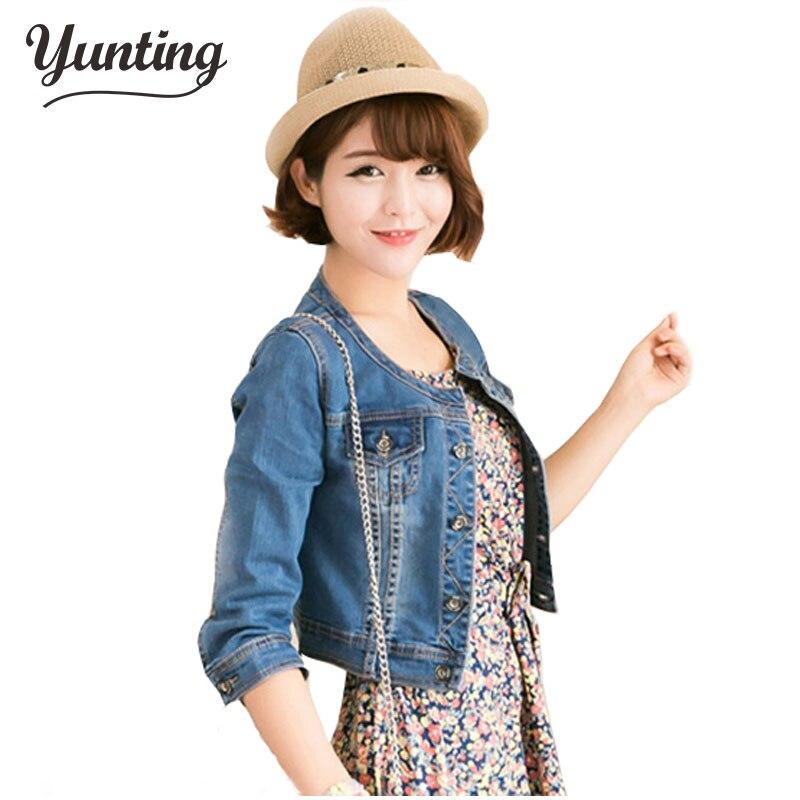 New 2017 Ladies Denim Jackets Outwear <font><b>Jeans</b></font> Coat Classical Jackets Women Fashion <font><b>Jeans</b></font> Coats Rivets Female Jackets