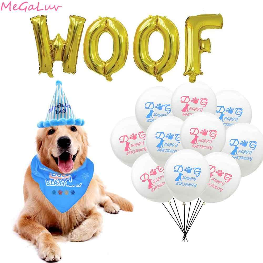 Latex Balloon Gold 16inch Woof Foil