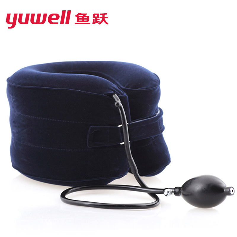Yuwell Cervical Vertebra Collar Brace Neck Traction Support Therapy Medical Orthopedics Inflatable Air Neck Massager Cushion C medical polymer envelope neck collar cervical spondylosis cervical holder torticollis cervical traction s m l