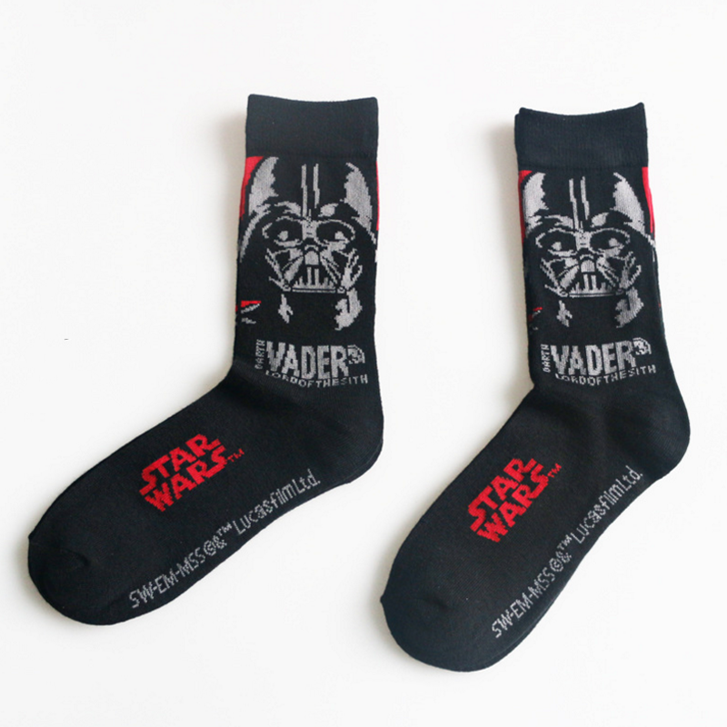 Socks Darth Vader Star-Wars Women Mens Toys Cotton 1-Pair Good-Quality Patterns Hombre