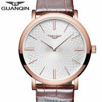 Relogio Masculino GUANQIN Mens Watches Top Brand Luxury Ultra Thin Quartz Watch Men Fashion Casual Leather