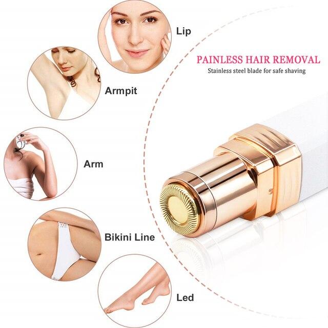 Electric Epilator Painless Hair Remover Epilator Eyebrow Trimmer for Face Lips Cheeks Portable Women Facial Hair Removal 2