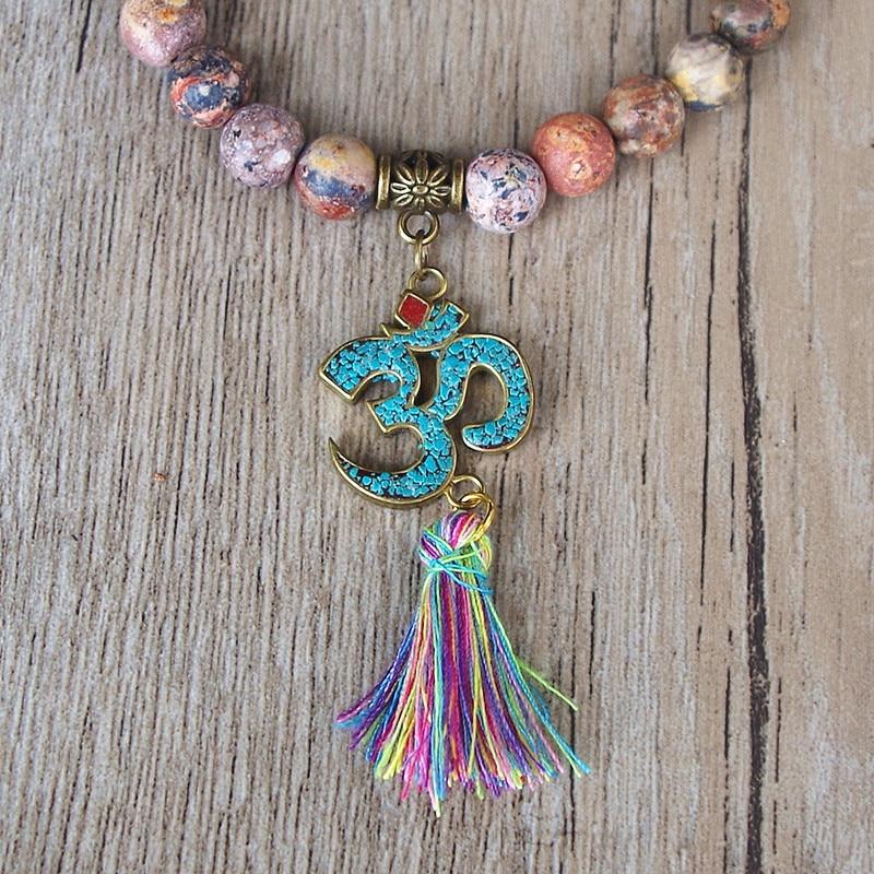 Handmade Tibetan Buddhism Natural Stone Chakra Mala Bracelet 2