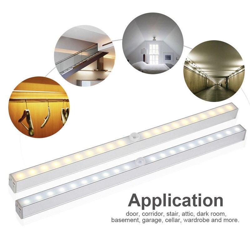 Wireless 20 LED Motion sensor night light battery power 5