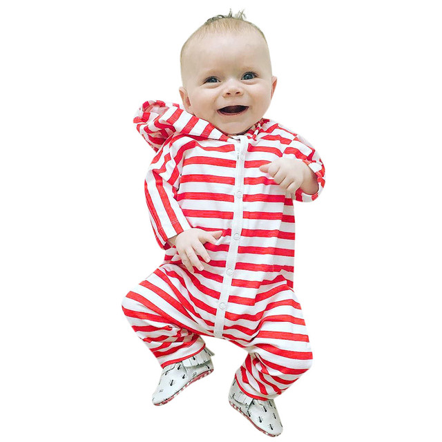 b907735fc Toddler Baby Girl Boys Long Sleeve Hooded Striped Clothes Jumpsuit Romper  Outfit Wholesale&Dropshipping Free delivery#20