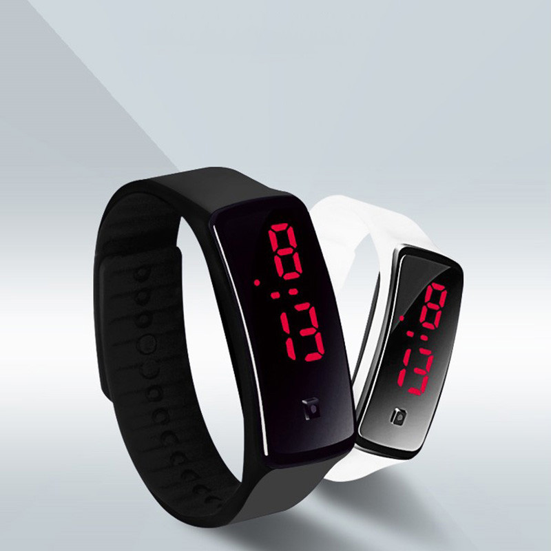 Fashion 13 Color Men Women Red Led Watches Silicone Women's Bracelet Led Watch LED Digital Girls Sports Wrist Watch