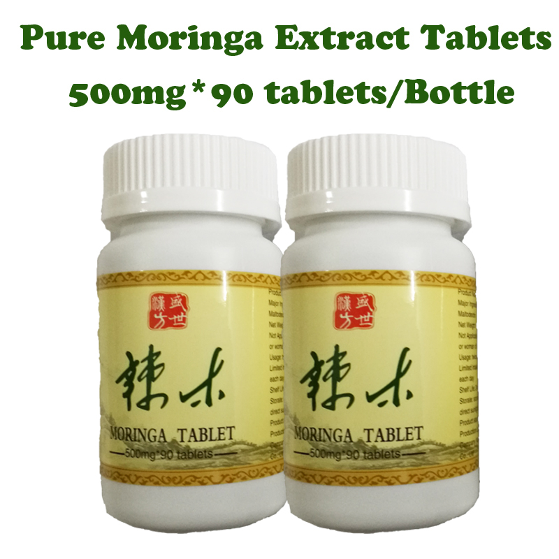 Free shipping! moringa extract powder tablets 3 bottles/lot gain weight anti-aging reduce high blood pressure health supplement moringa oleifera leaf extract tablets antioxidant energy booster