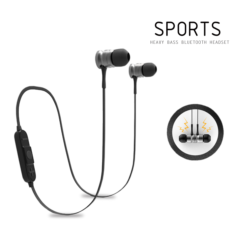 Bluetooth 4.1 Headphone Magnetic Earphones In-ear Sport Running Wireless Headset Bluetooth Earphone with Microphone For Phone